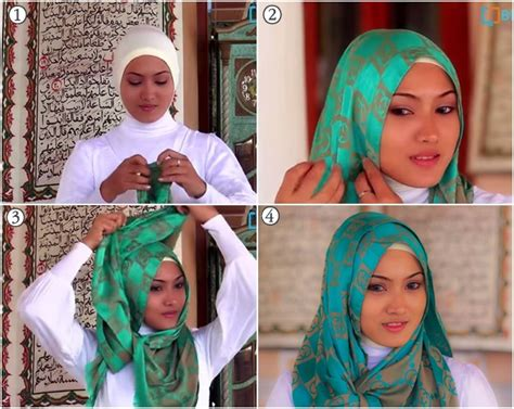 tutorial hijab pashmina simple lebaran tutorial hijab pashmina untuk lebaran terbaru yang simple 1