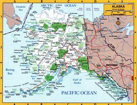 alaska state map geographic map of alaska state