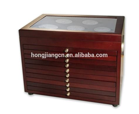 coin display box wooden coin display buy 10 drawer custom wood
