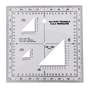 printable army protractor military utm mgrs coordinate scale map reading and land