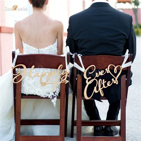 2pcs/set Happily Ever After Rustic Wedding Sign Decor