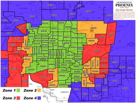 zip code map for phoenix phoenix zip code map afputra com
