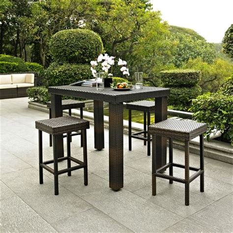 High Patio Dining Sets by Crosley Furniture Ko70010br Palm Harbor 5 Outdoor