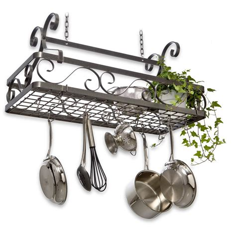 Pot Racks Canada enclume 174 decor classic large hanging basket pot rack 226493 kitchen dining at sportsman s guide