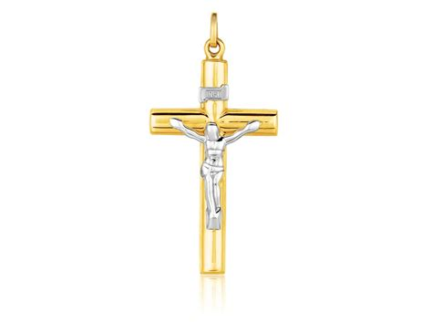 cross pendants for jewelry two tone cross pendant in 14k gold richard cannon jewelry