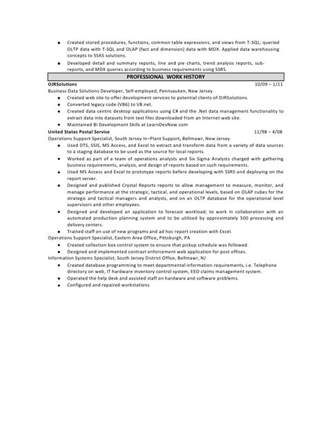 sharepoint sle resume developers 28 images sharepoint