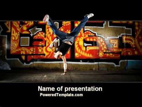 hip hop dancing powerpoint templates powerpoint break dance powerpoint template by poweredtemplate com