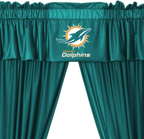 miami dolphins curtains nfl miami dolphins 5 piece long jersey curtains valance