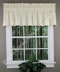 How To Make A Tailored Valance Dover Tailored Valance Ivory Ellis Kitchen Valances