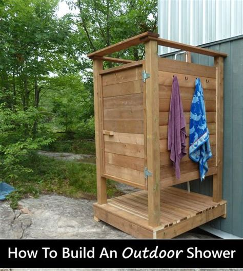 diy wooden outdoor shower perfect   grid cabin