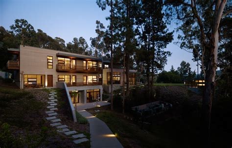 pictures of big houses irregularly shaped house with a small grove of eucalyptus and pine trees on the site