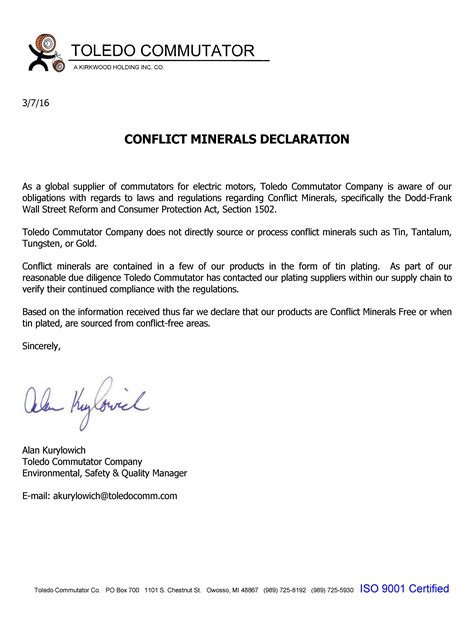 Request For Information Template Landlord Reference Letter 17 Template Lab Key Information For Conflict Minerals Declaration Template