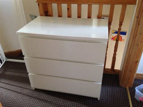 Malm Drawers For Sale by White Malm Chest Of 3 Drawers For Sale In Navan