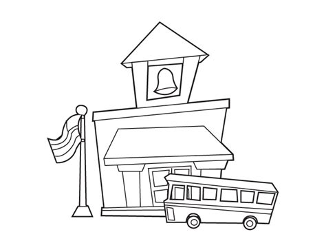 cartoon picture of a house az coloring pages