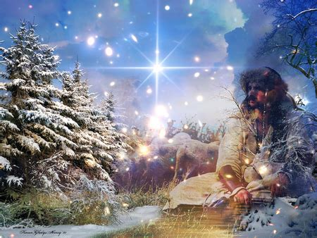 christmas hope winter & nature background wallpapers on