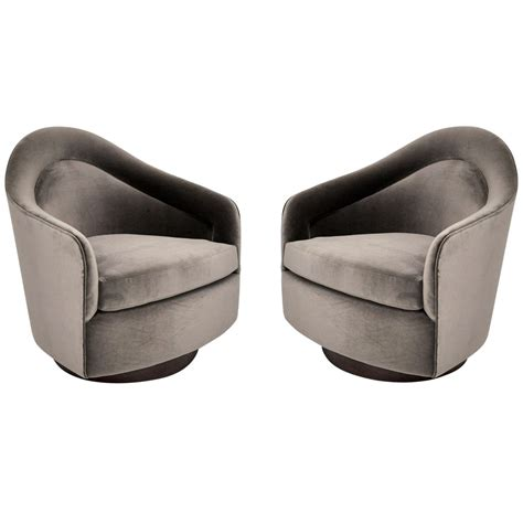 lounge bench seating milo baughman swivel lounge chairs at 1stdibs