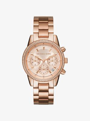 Michael Kors Ohrstecker Rosegold by Ritz Gold Tone Michael Kors
