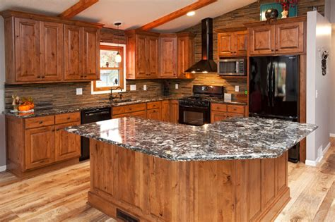 rustic alder kitchen rustic kitchen minneapolis by