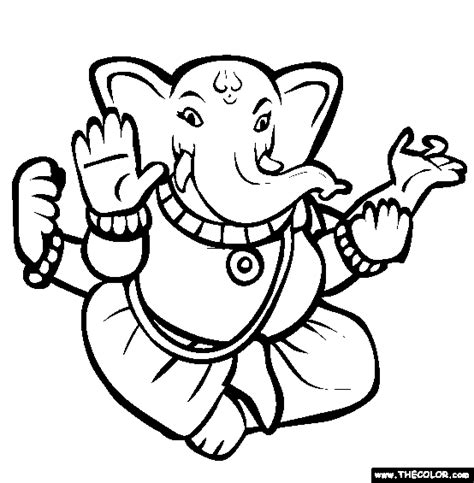 Hindu God Coloring Pages ganesha coloring page free ganesha coloring