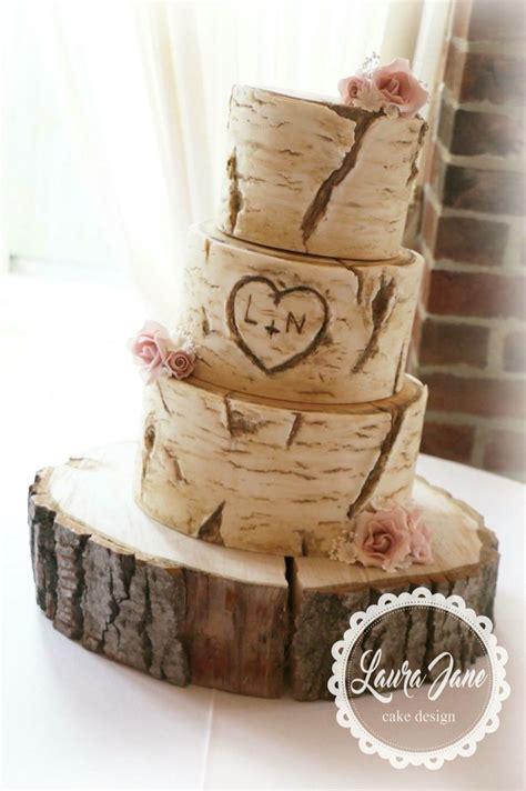 tree trunk rustic wedding cake rustic weddings wedding cakes wedding cake rustic wedding