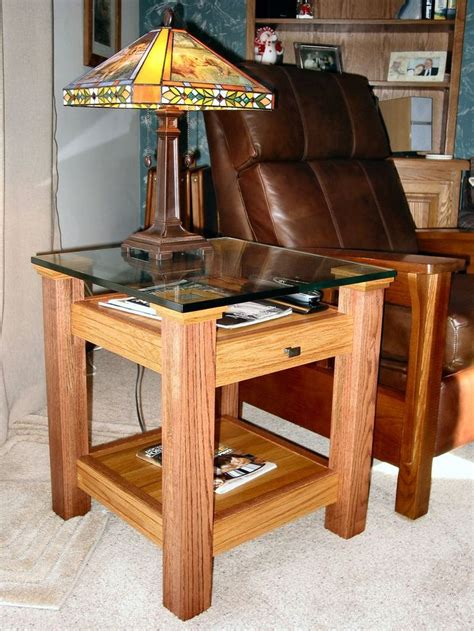 oak glass display top  table crafts easy