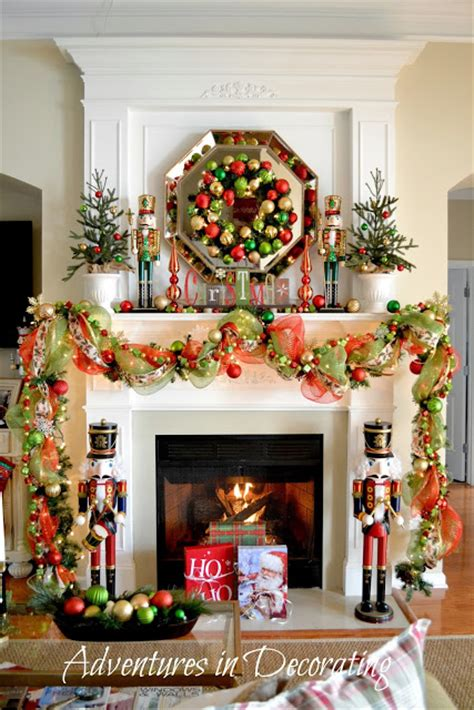 fireplace nutcracker adventures in decorating our mantel and quot deck the halls quot tour