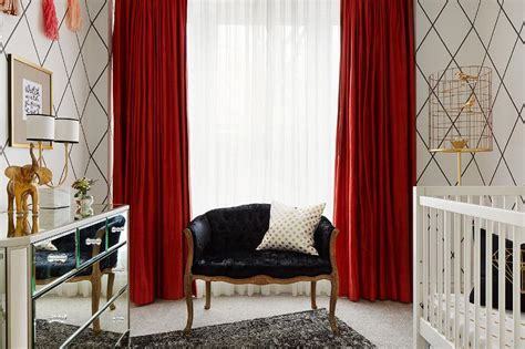 red black and white bedroom curtains bartarin site black and white nursery with red curtains contemporary