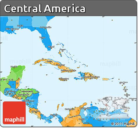 america map version 13p free political simple map of central america