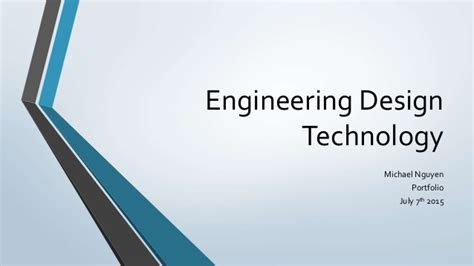 design portfolio creation engineering ltd engineering design technology