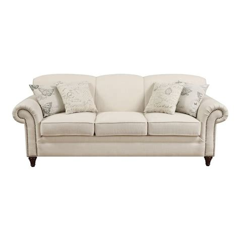 nail head trim sofa nail head trim sofa fusion max linen sofa with nailhead