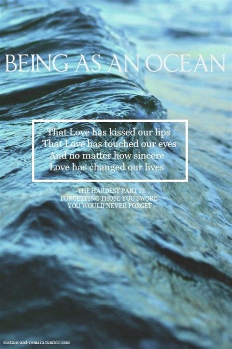 being as an ocean being as an ocean lyric quotes quotesgram