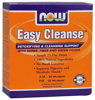 Easy 5 Day Detox by Now Foods Easy Cleanse A M 60 Vcaps P M 60 Vcaps