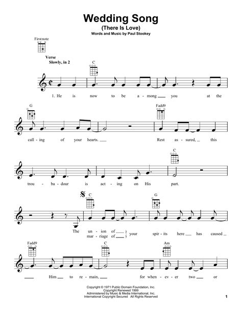 Wedding Song Guitar Chords by Wedding Song There Is Sheet Direct