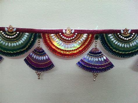 Handmade Toran Designs - toran made from waste cds diwali decorations simple