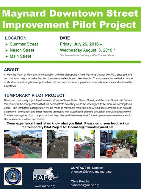 downtown improvement pilot project to begin july 29th