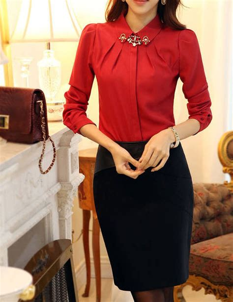 Atasan Merah 5 baju atasan merah lengan panjang jual model terbaru murah