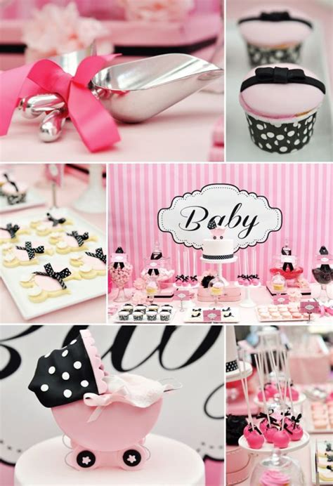 Pink And Black Baby Shower Themes by Pink White And Black Baby Shower Theme Baby Shower S