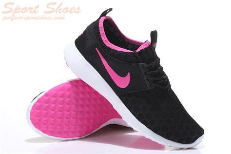 nike roshe run black and pink and white