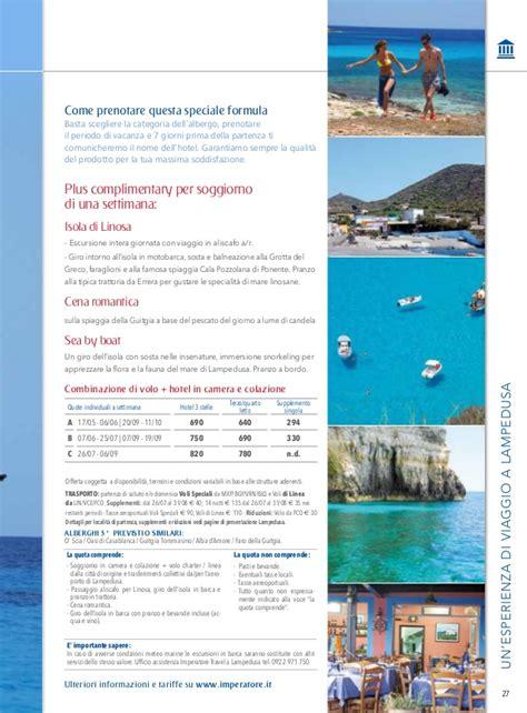 volo soggiorno ledusa catalogo isole 2014 imperatore travel