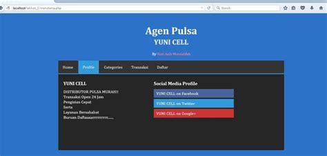membuat menu utama web dengan php cermi membuat menu utama dengan php unbaja