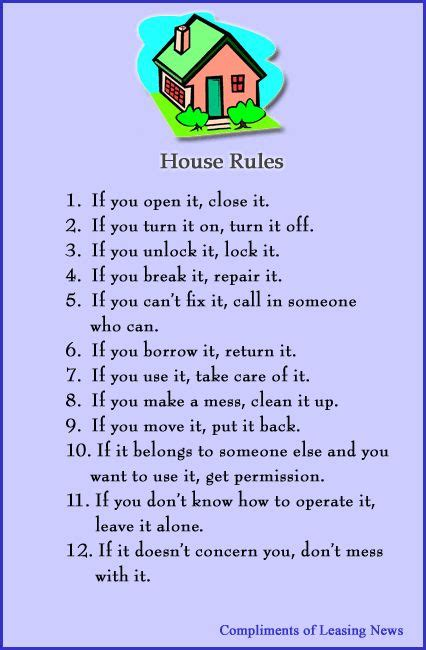 printable house rules poem house rules gif 426 215 650 quotes pinterest
