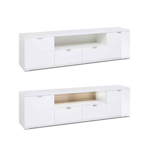 lowboard mit beleuchtung lowboard gladys 3 hochglanz wei 223 180x50x40 cm tv board mit