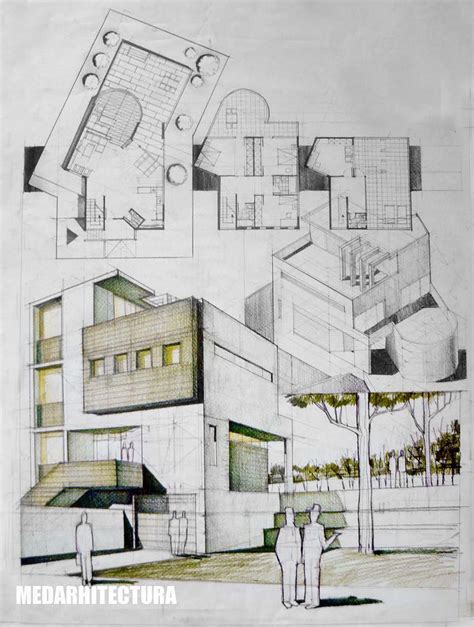 home design drawing contemporary house architectural drawing dragos neatu