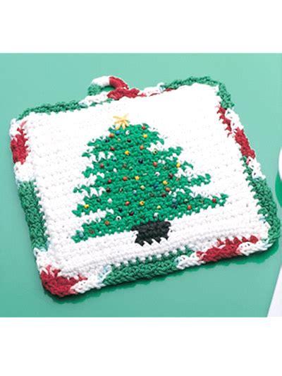 crochet christmas tree potholder pattern winter crochet patterns holiday pot holders