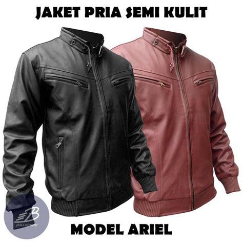 jual jaket semi kulit sintetis pria bahan vienna model
