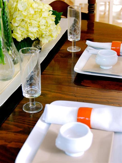 simple elegant table settings 5 easy ideas for an elegant dinner party hgtv