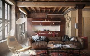 Industrial Home Decor Ideas Decorate With Leather Furniture In A Vintage Industrial Style
