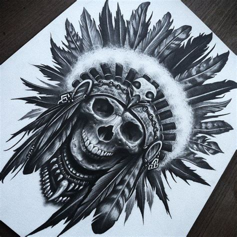indian head tattoo designs skull headdress by herrerabrandon60 on deviantart guaton