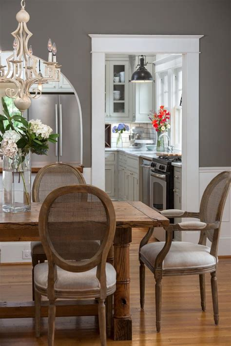 furniture photos hgtv chic gray dining room with farmhouse table clipgoo gray dining room paint