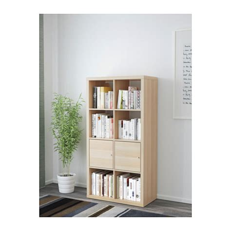 Shelving Unit With Doors by Kallax Shelving Unit With Doors White Stained Oak Effect